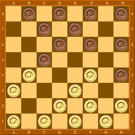 Дебют Косяк - начальная позиция после 5-ти ходов