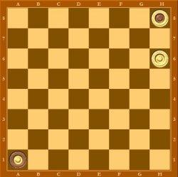 В случае b2-a1 белые побеждают