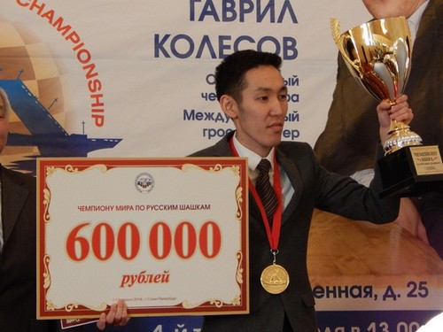 Николай Стручков чемпион мира по русским шашкам 2014