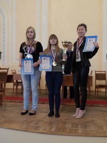 Призерши чемпионата Санкт-Петербурга по международным шашкам, блиц, 2014