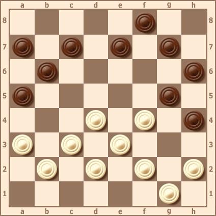 Жертва шашки для стеснения сил противника