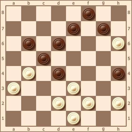 Жертва шашки для связки сил противника