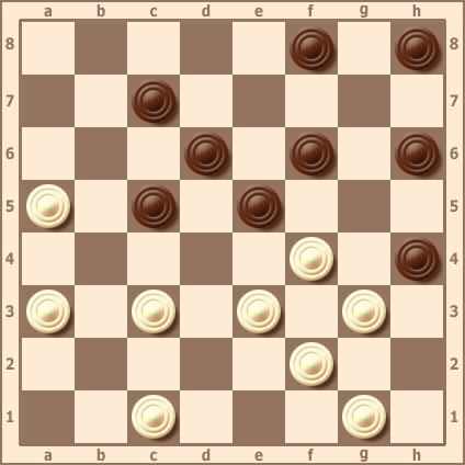 Жертва шашки для обострения игры