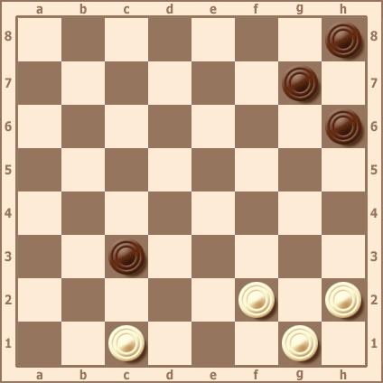Связка. Пример связок в русских шашках